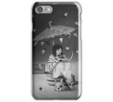Tea Party with girl and French Bulldog on the Moon iPhone Case/Skin