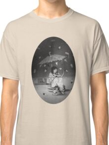 Tea Party with girl and French Bulldog on the Moon Classic T-Shirt