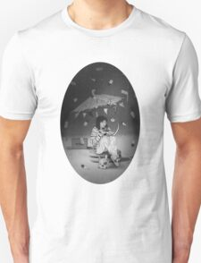 Tea Party with girl and French Bulldog on the Moon Unisex T-Shirt