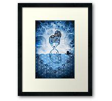 Mermaid with duck in sea Framed Print