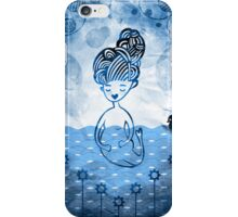 Mermaid with duck in sea iPhone Case/Skin