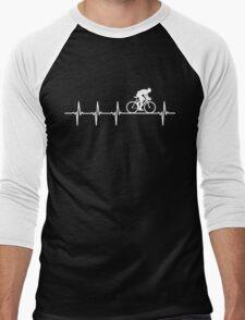 Mountain Biking Heartbeat Love Men's Baseball ¾ T-Shirt