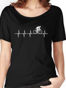 Mountain Biking Heartbeat Love Women's Relaxed Fit T-Shirt