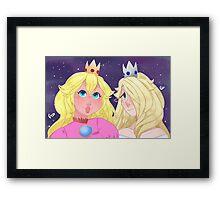Mario Girlfriends Framed Print