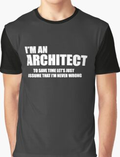 Architect Funny Logo Graphic T-Shirt
