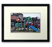 children playground Framed Print
