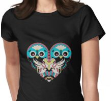 Beautiful Animal Heart Womens Fitted T-Shirt