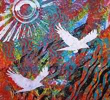 Flying Free by Heather Holland  Landscape View by Heatherian