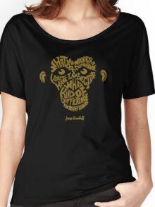 Jane Goodall monkey face Women's Relaxed Fit T-Shirt