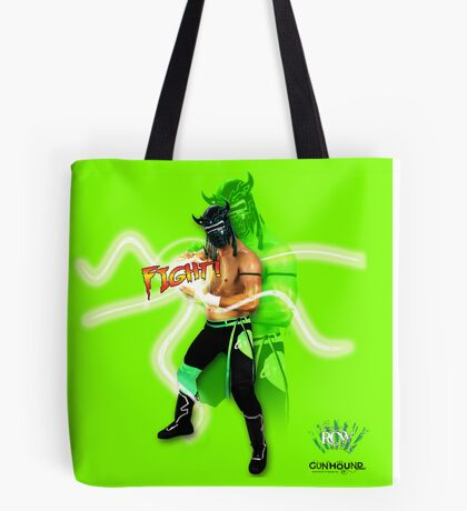 FIGHT - Lucha Riot City Wrestling series Tote Bag