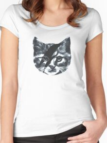 Stardust Cat face Women's Fitted Scoop T-Shirt