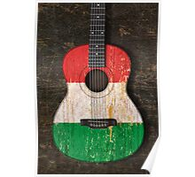 Aged and Worn Italian Acoustic Guitar Poster