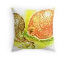 Oranges and Pears Throw Pillow