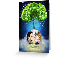 Every bright thing starts from love in a family Greeting Card