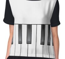 Musical piano keys Chiffon Top