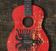 Aged and Worn Albanian Acoustic Guitar by Jeff Bartels