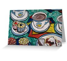 Tea for Three by Heather Holland  Greeting Card