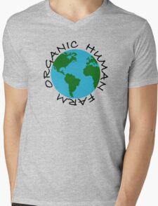 Organic Human Farm Mens V-Neck T-Shirt