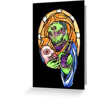 reptilian benediction Greeting Card
