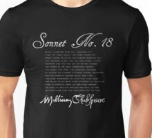Shakespeare Sonnet No. 18 (Dark) T-Shirt