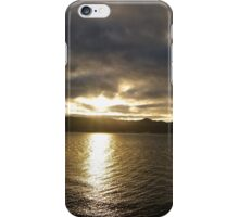 sunset reflecting on harbour iPhone Case/Skin