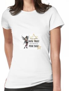 Punk Tinker bell Womens Fitted T-Shirt
