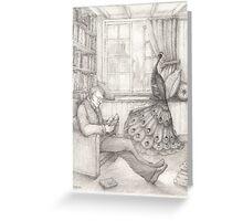 Reading detective novels to Julius Greeting Card