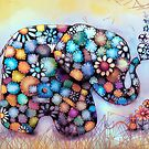 Little Sunshine the Patchwork Elephant by © Cassidy (Karin) Taylor