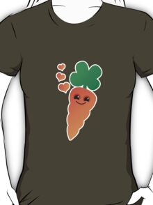 Cute kawaii orange carrot with cute hearts T-Shirt