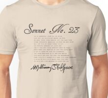 Shakespeare Sonnet No. 23 Unisex T-Shirt