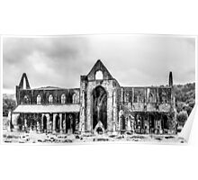Tintern Abbey in black & white Poster