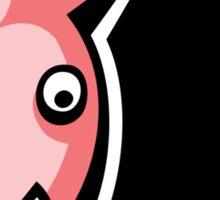 crazy pig Sticker