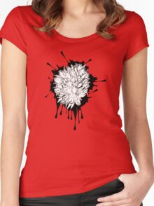Tulips Grunge Sketch 2 Women's Fitted Scoop T-Shirt