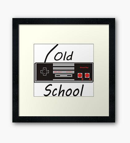 Old School Framed Print