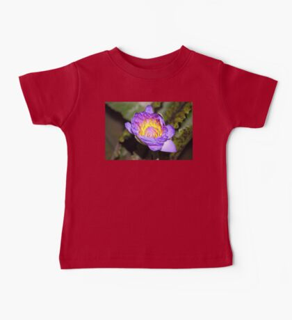 Oil Painting of Open Water Lily Blossom Baby Tee