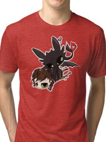 Toothless and Hiccup Tri-blend T-Shirt