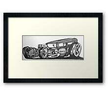sick rat rod original style hot rod ford Framed Print