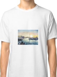 Sunset in the Fjord of Bergen Classic T-Shirt