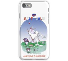 Keep Calm and have a snoooze - tony fernandes iPhone Case/Skin