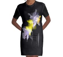 Cubist Daffodils Graphic T-Shirt Dress
