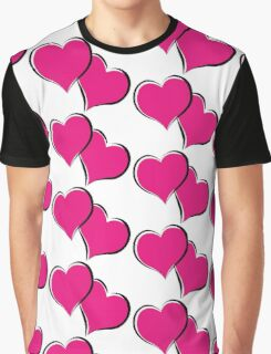 overlapping red hearts Graphic T-Shirt