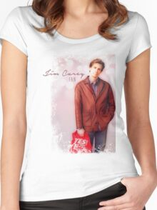 Jim Carrey Fan Women's Fitted Scoop T-Shirt