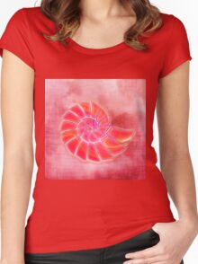 pink wash nautilus Women's Fitted Scoop T-Shirt
