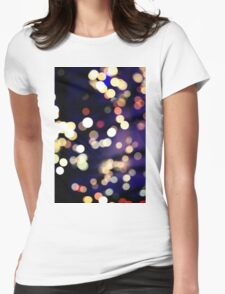 Bokeh Lights Womens Fitted T-Shirt