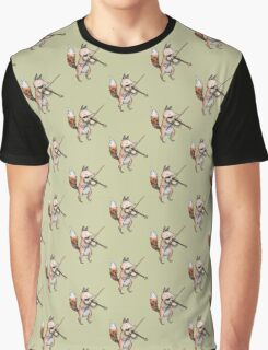Violin Fox Graphic T-Shirt