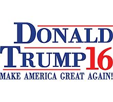 Donald Trump 16 Make America Great Again! Photographic Print