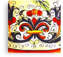 Porcelain Flower Decoration Canvas Print