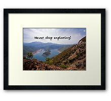 Exploring Nature - Travel Photography Framed Print