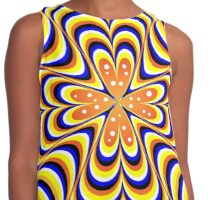psychedelic wave Contrast Tank