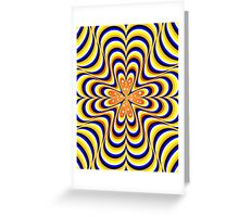 psychedelic wave Greeting Card